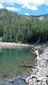 fly fishing mountain lakes